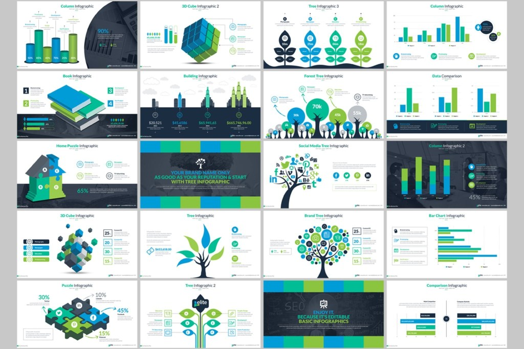 business infographic presentation powerpoint template 66340