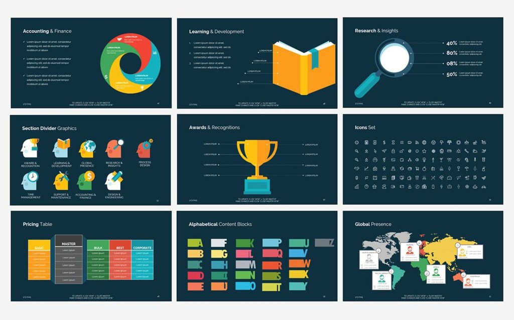 business think powerpoint template 70863