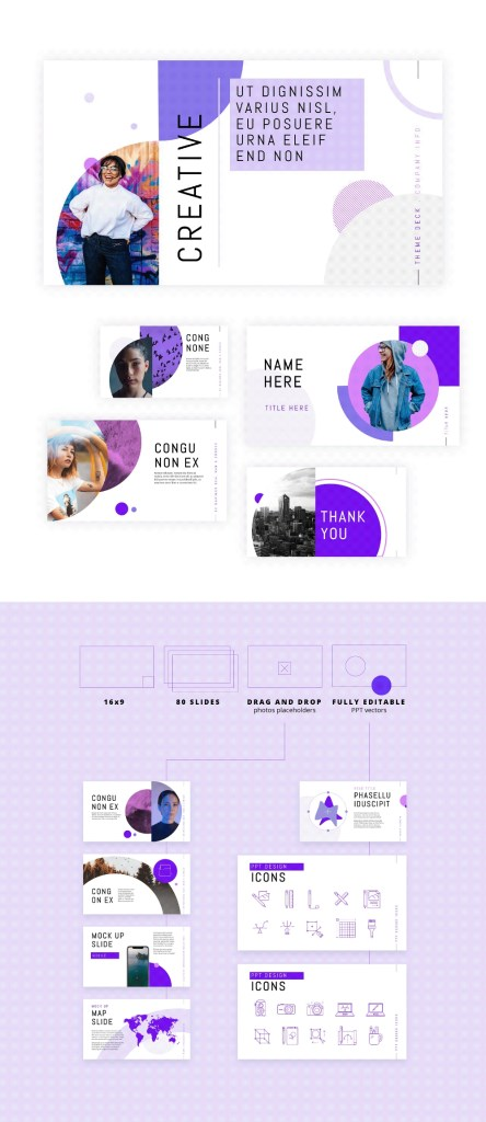 circle presentation template on behance in 2020 logo