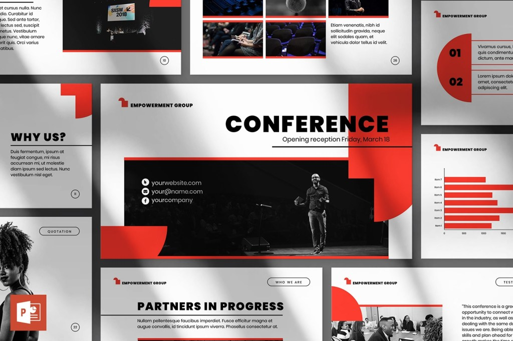 conference powerpoint presentation template on behance