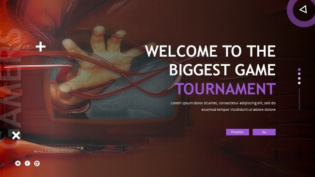 esport game powerpoint template free powerpoint template