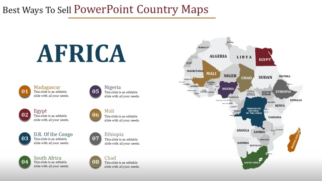 powerpoint country maps slide templates