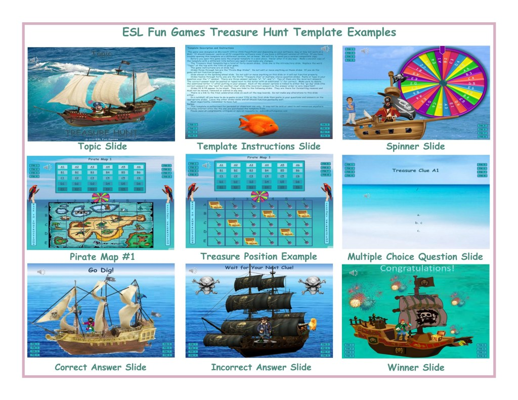 treasure hunt english powerpoint game template free read