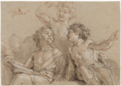 Charles de La Fosse, Trois jeunes génies, Dijon, musée des beaux-arts.