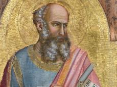 Giotto di Bondone, Saint Jean l'Évabgéliste (détail), vers 1320, Abbaye Royale de Chaalis