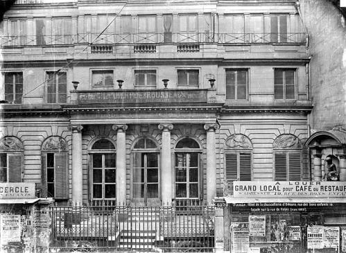 Médéric Mieusement, Hôtel de la Chancellerie d'Orléans, façade sur la rue de Valois, 1889. Ministère de la Culture (France) - Médiathèque de l'architecture et du patrimoine - diffusion RMN