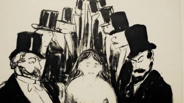Edward Munch, L'Allée, 1895 (détail)