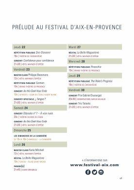 planning Aix en Juin 2