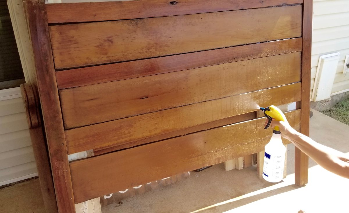 get rid of mildew smell on old wood furniture