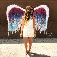 """""""Angel Wings"""" by Colette Miller - St. Regis Wine & Liquor, 8401 West 3rd Street (at S Orlando Avenue), Beverly Grove"""