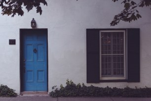 Blue Door on the Lake