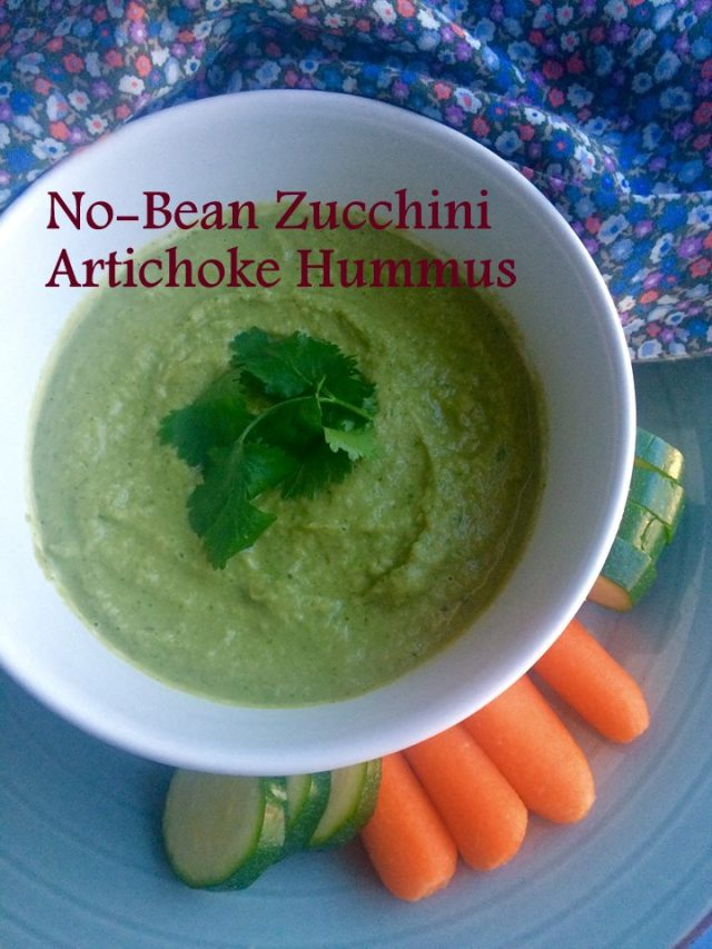 No-Bean Zucchini Artichoke Hummus