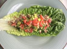 strawberry avocado lettuce wraps