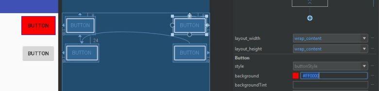 cambiar estilo botones android