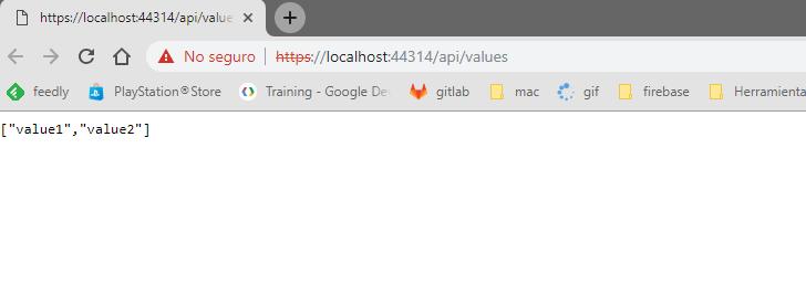 ejecutando .net core