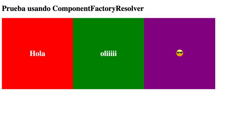 añadir componentes dinámicos
