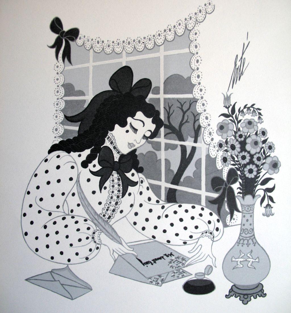 Image: Erté, bookplate