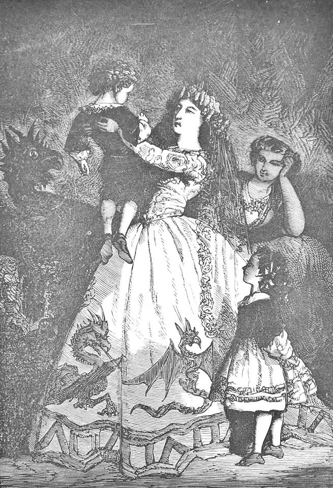 RE: invoking demonic entities. It pays to be discerning when selecting a child with which to tempt your demon. You wouldn't want to pick a dud. Pro-tip: thump the youngster on the head, lightly, as when choosing a ripe melon. Listen for a lively exclamation of outrage. You've got a winner! Engraving from Macé's Fairy Book. Home Fairy Tales (Contes du Petit-Château). By Jean Macé. Translated by Mary L. Booth. With Engravings. New York: Harper & Brothers, 1868.