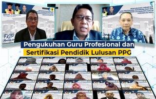 Rektor Unram Kukuhkan 313 Lulusan PPG