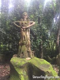 A depiction of Osun. Olomoyoyo
