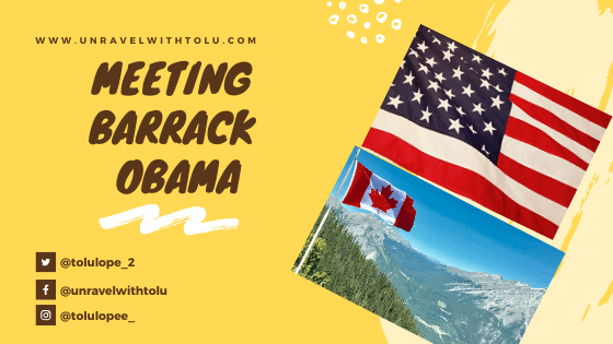 I Met Barrack Obama In Halifax, Nova Scotia