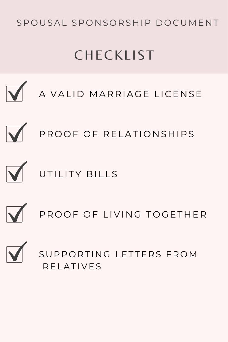 spousal sponsorship document