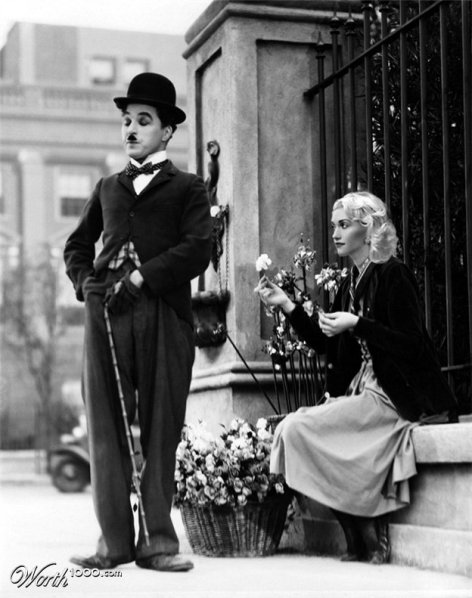 Charlie Chaplin et Gwen Stefani