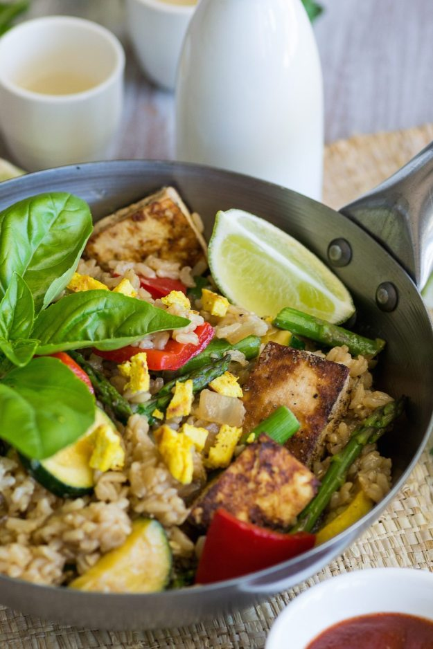 Oil-free Vegan Vegetable Fried Rice by An Unrefined Vegan