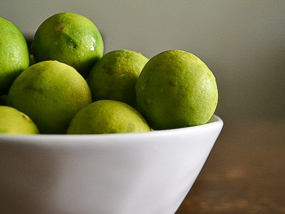 Key Limes in Bowl