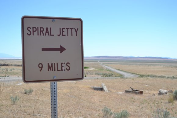 Sign to Spiral Jetty