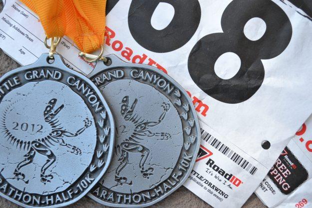 Race Bibs, Medals