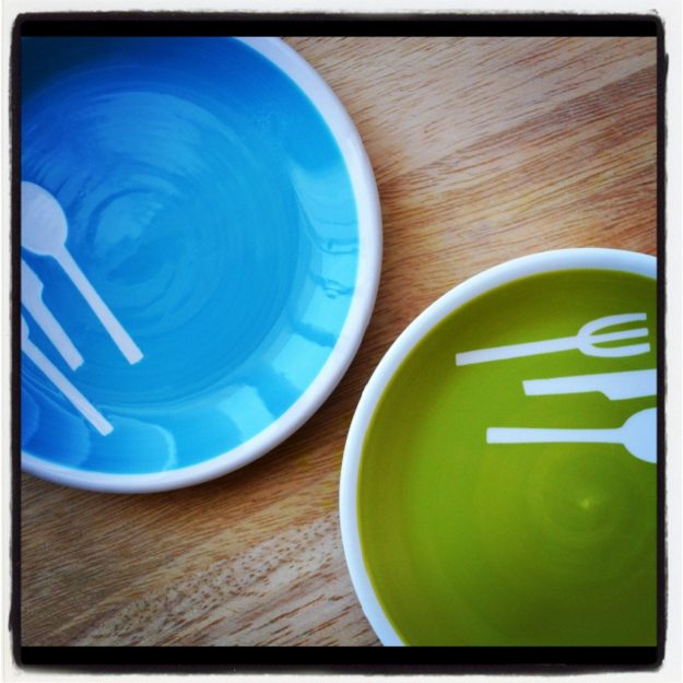 Blue Dish, Green Dish
