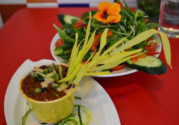 Green Salad & Chili.