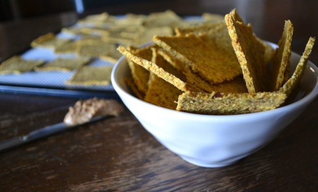 Raw Peanut Butter Crackers from An Unrefined Vegan