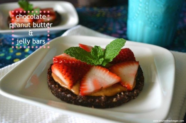 Chocolate PB & Jelly Bars An Unrefined Vegan
