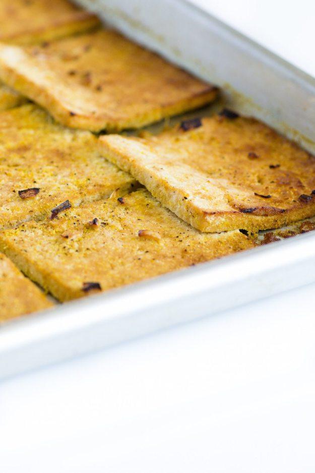 Baked Lemony Tofu by An Unrefined Vegan