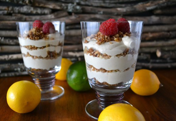 Meyer Lemon, Lime, & Graham Cracker Parfaits An Unrefined Vegan