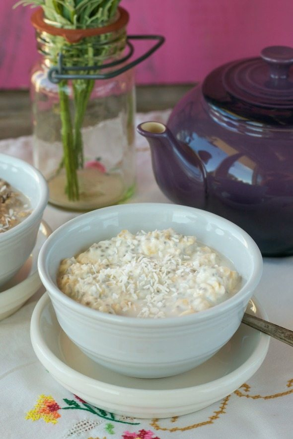 Candy Bar and Coconut Cream Oatmeals An Unrefined Vegan