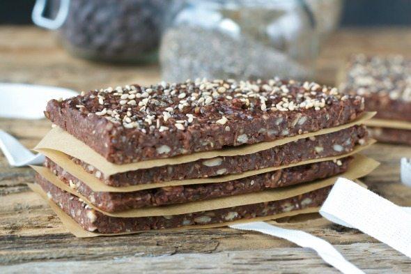 Chocolate Energy Bars An Unrefined Vegan