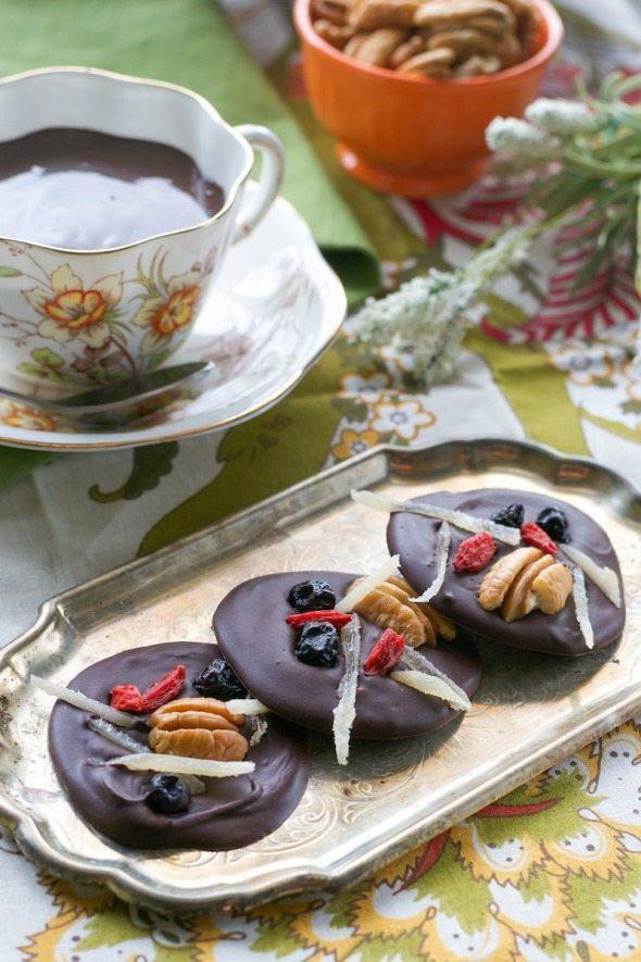 Mendiants from Vegan Chocolate An Unrefined Vegan