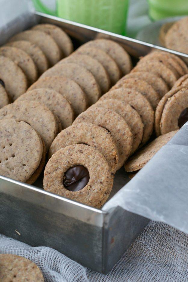 Chocolate Hazelnut Sandwich Cookies An Unrefined Vegan