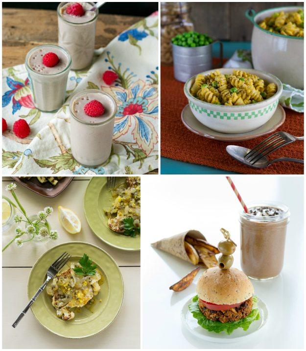 Jazzy Vegetarian Collage photos by Annie Oliverio