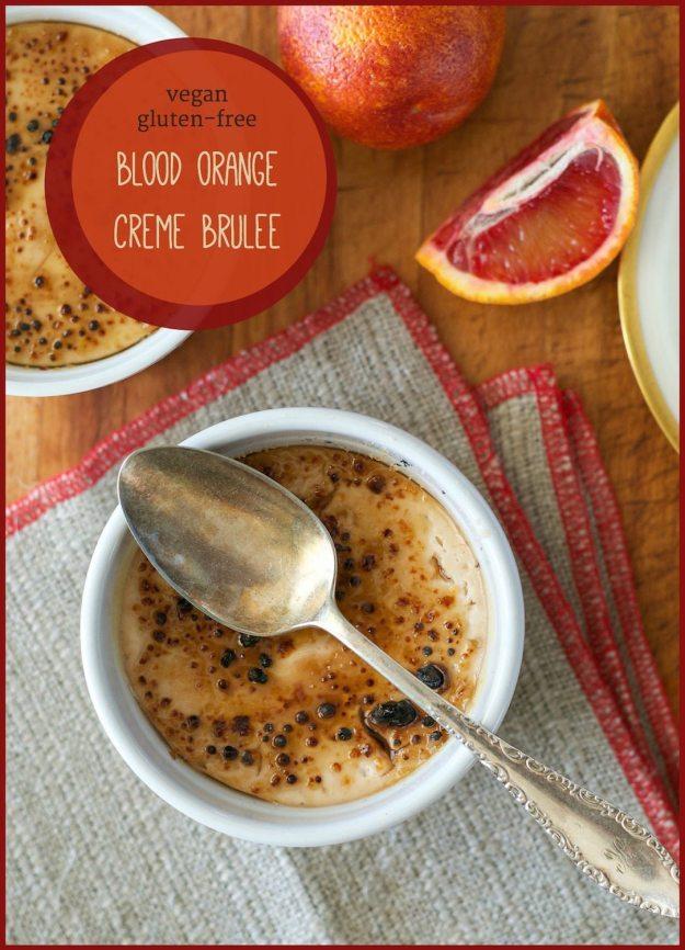 Vegan Blood Orange Creme Brûlée from An Unrefined Vegan