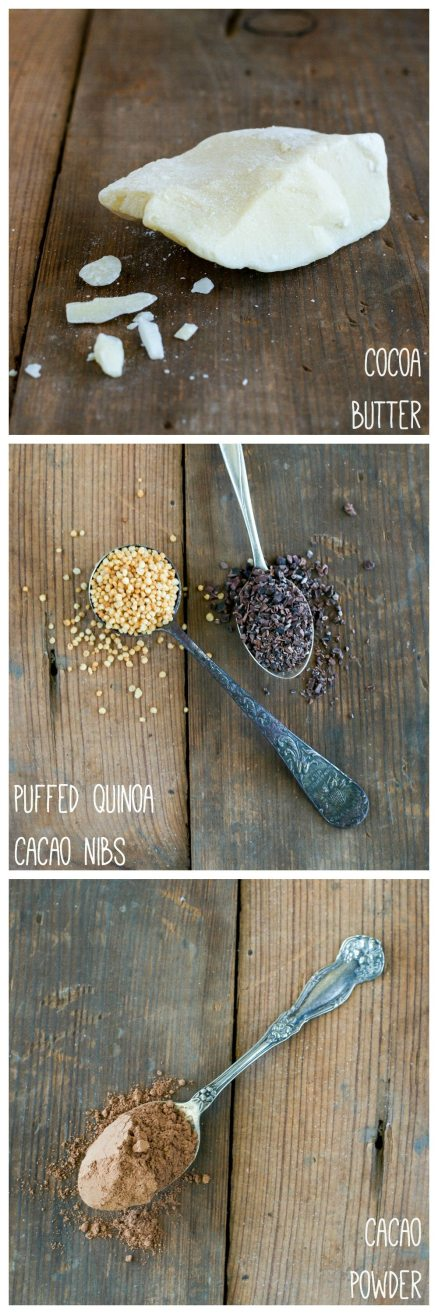 Vegan Puffed Quinoa & Cacao Nib Chocolate Bars by An Unrefined Vegan