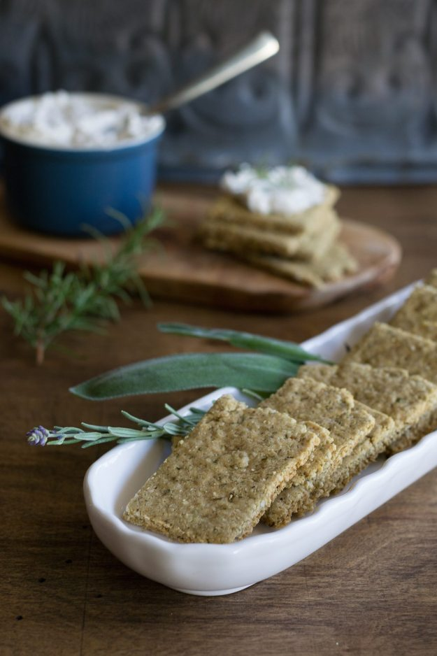 Vegan Olive & Herb Crackers Photo by An Unrefined Vegan