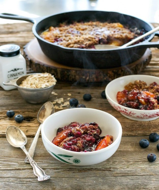 Peach Blueberry Crumble from Cook the Pantry Photo by Annie Oliverio