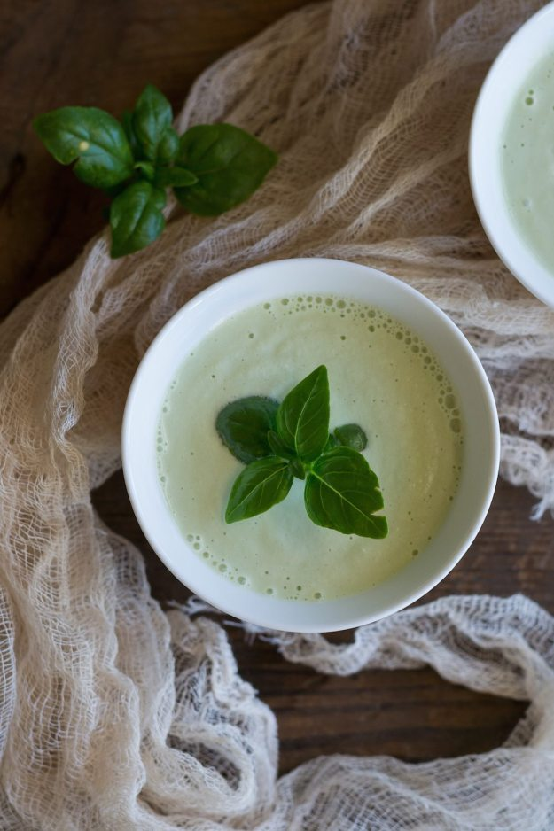Jazzy Vegetarian's Cashew Cucumber Basil Soup Photo by An Unrefined Vegan