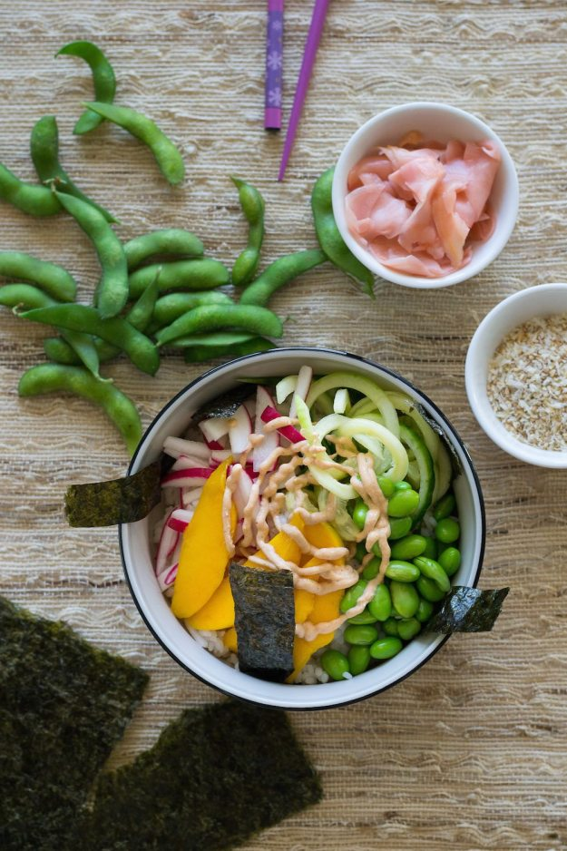 Spicy Sushi Bowl from Vegan Bowl Attack Photo by Annie Oliverio