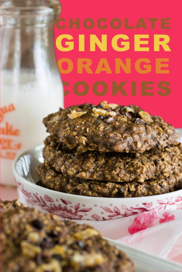 Chocolate Ginger Orange Cookies by An Unrefined Vegan