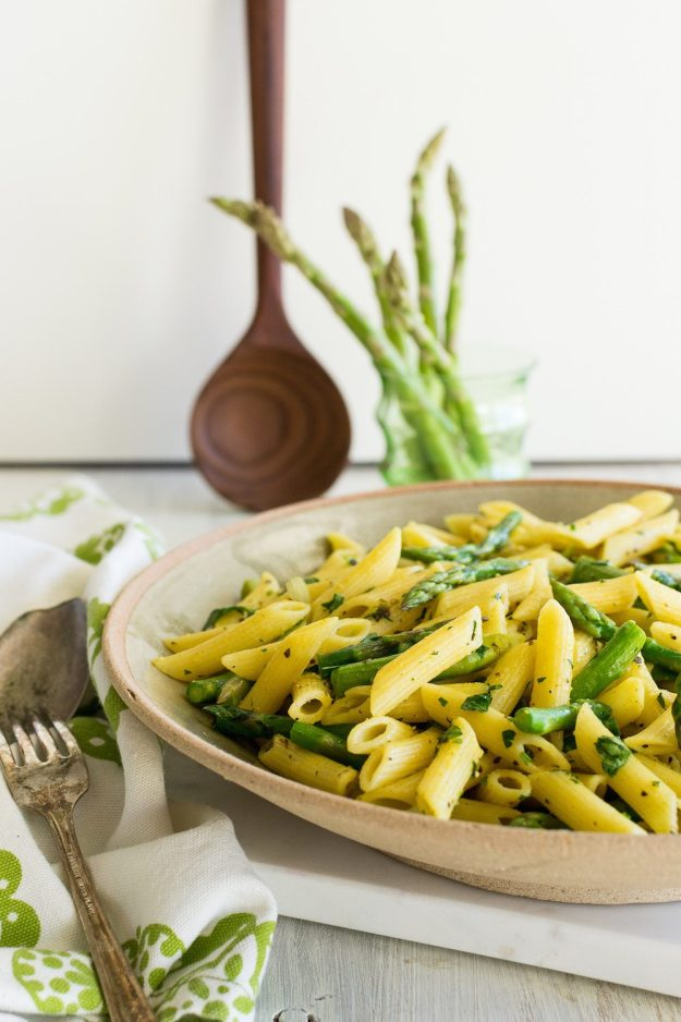 Penne Pasta with Herb Butter Sauce by Jazzy Vegetarian